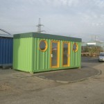 What a 20 foot container converted to an office could look like.